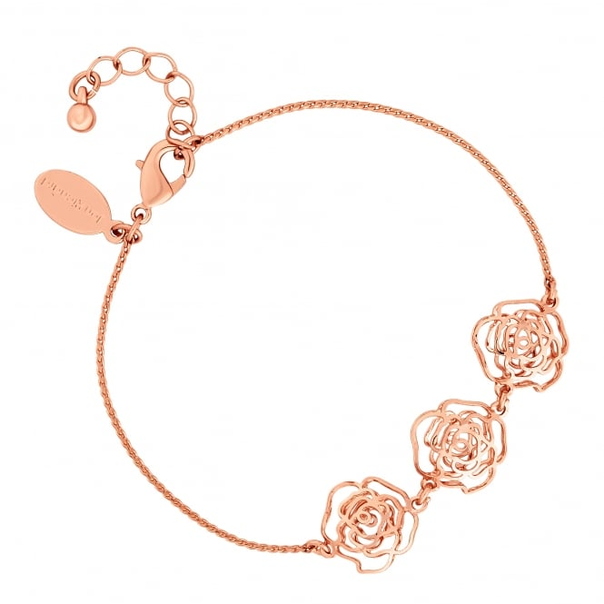 Jon Richard Rose Gold Plated Filigree Rose Bracelet