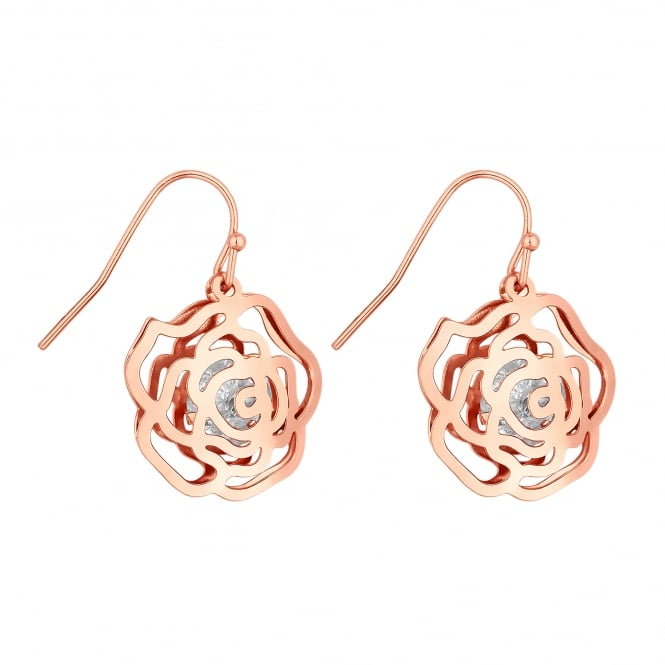 Jon Richard Crystal filigree rose drop earring