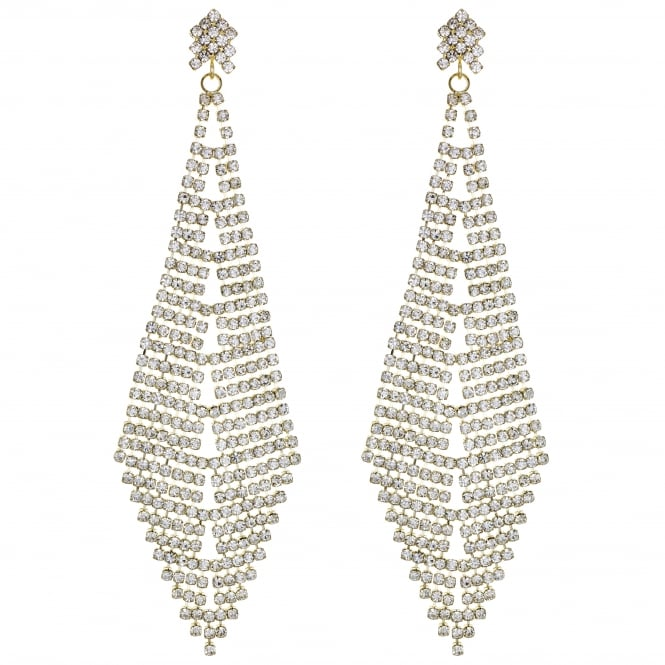 MOOD By Jon Richard Gold Crystal Statement Earring