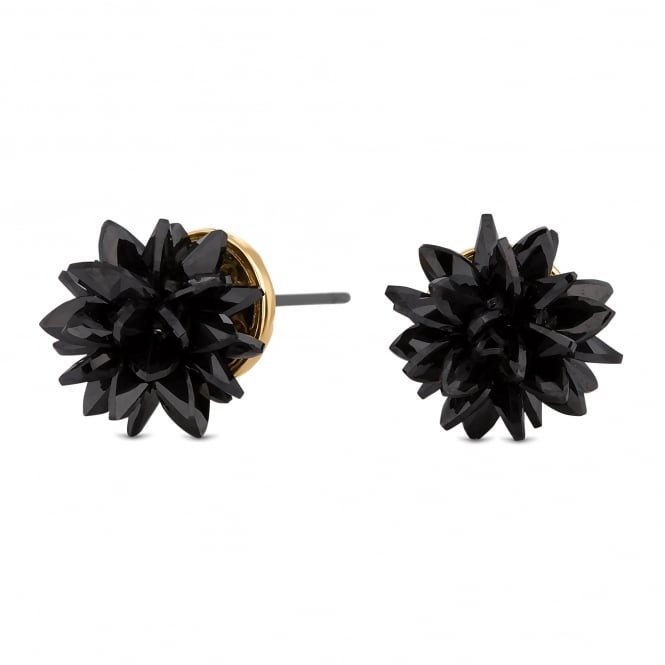 Jon Richard Crystal shard floral stud earring