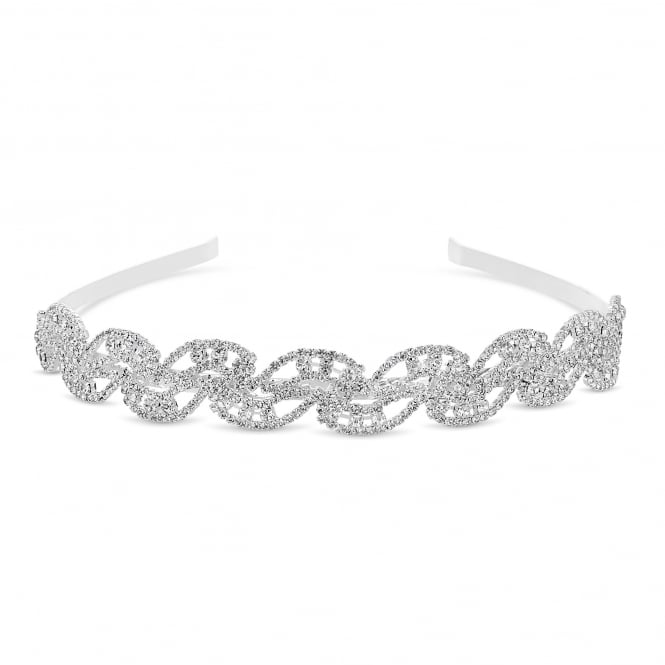 MOOD By Jon Richard Silver Crystal Wave Headband
