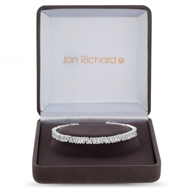 Jon Richard Cubic zirconia cluster cuff in a gift box