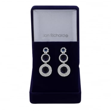 Cubic zirconia graduated drop earring
