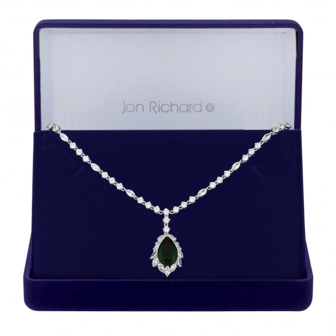 Cubic zirconia statement pendant necklace