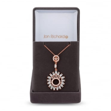 Cubic zirconia sunflower necklace