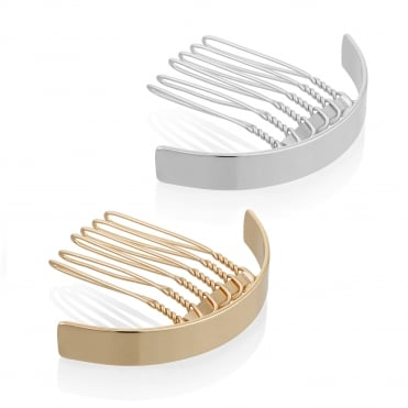 Curved hair comb set