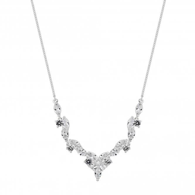 Designer Cubic Zirconia Cluster Necklace