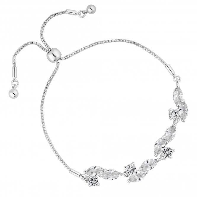 Designer Cubic Zirconia Cluster Toggle Bracelet