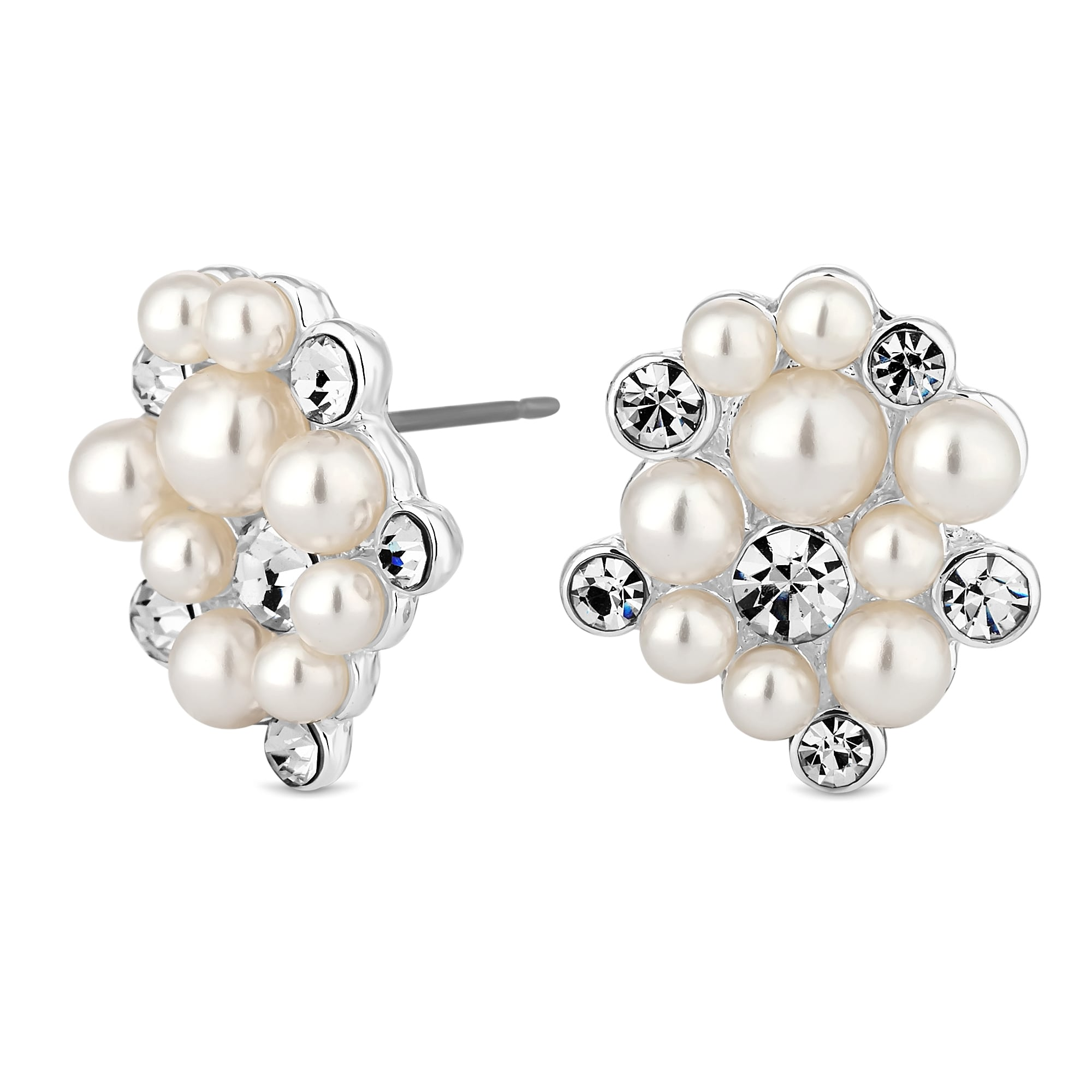 stud earrings loading ers image women white designer is pave gold jewellery solid itm