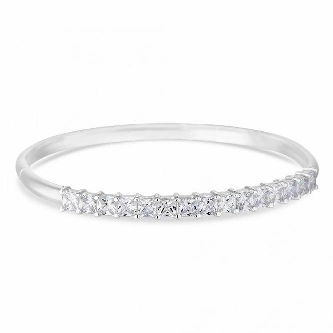 Designer Silver Cubic Zirconia Bangle