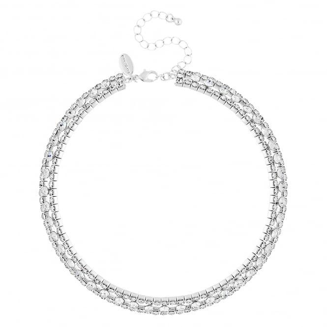 Diamante circle collar necklace