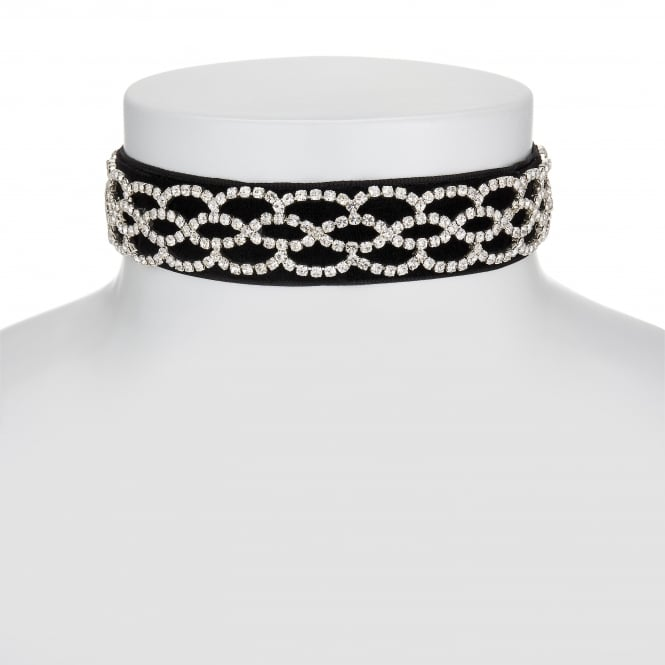 MOOD By Jon Richard Diamante velvet choker