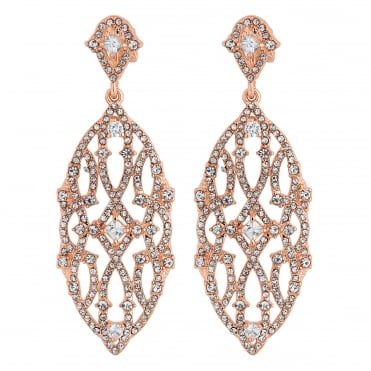 Filigree statement clip on earring