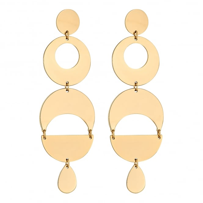 Gold Geometric Statement Drop Earring