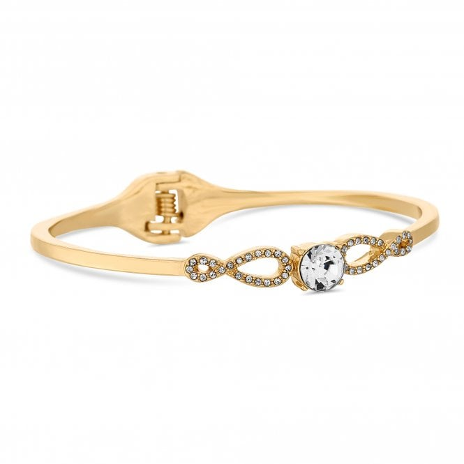 Gold Crystal Infinity Bangle