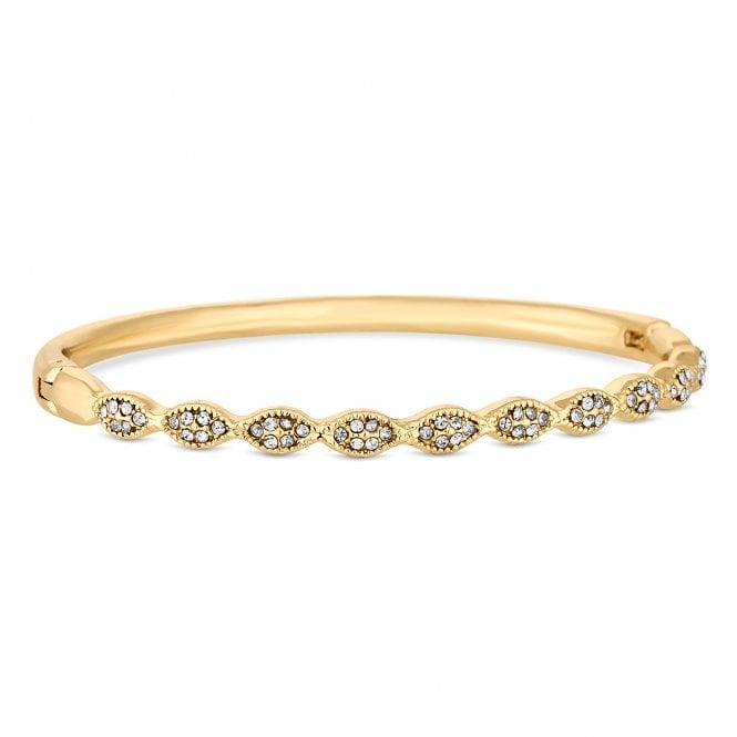 Gold Crystal Wave Bangle