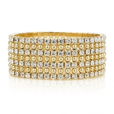 Gold diamante crystal bracelet
