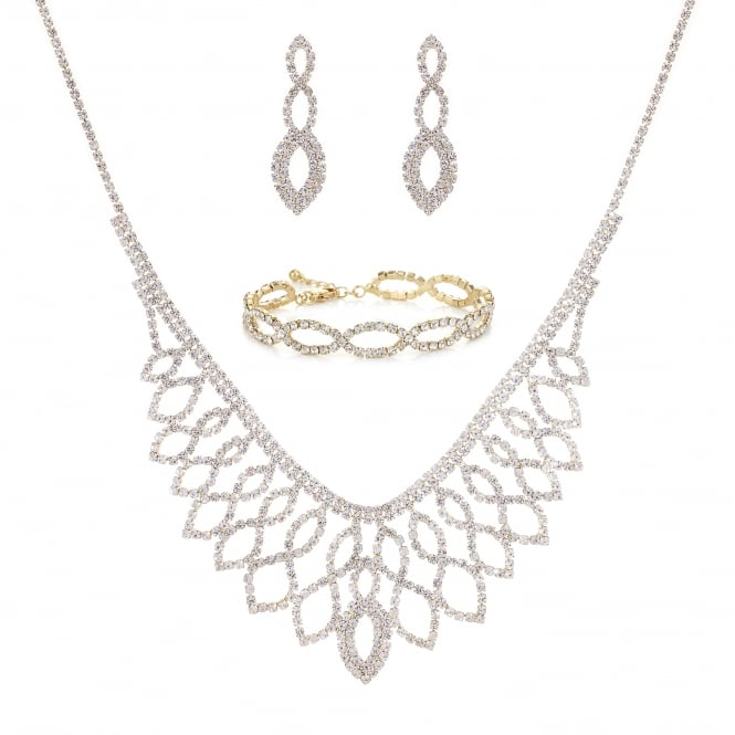 Gold Diamante Jewellery Set