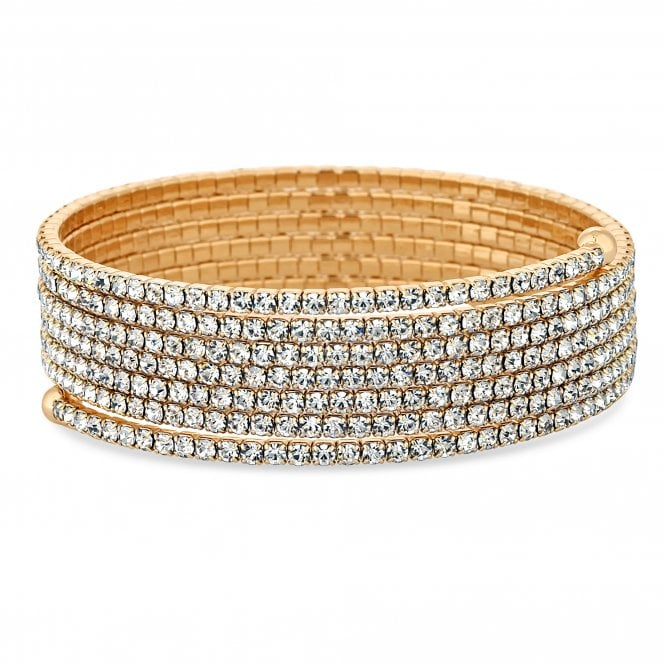 Gold Diamante Twist Bracelet