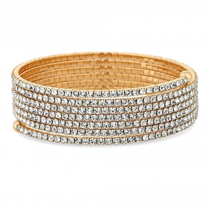 Gold Diamante Twist Bracelet
