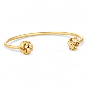 Gold knotted bangle