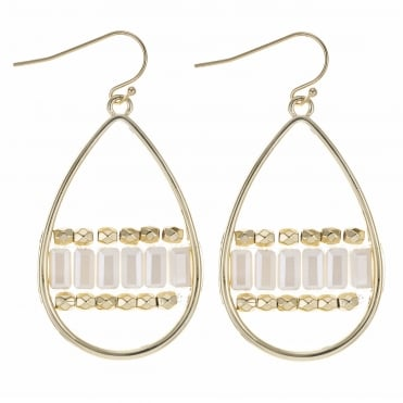 Gold multi tone crystal earring