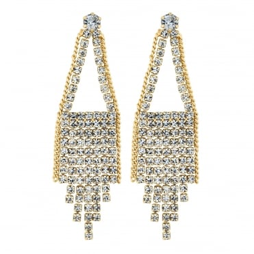 Gold tassel chandelier earring