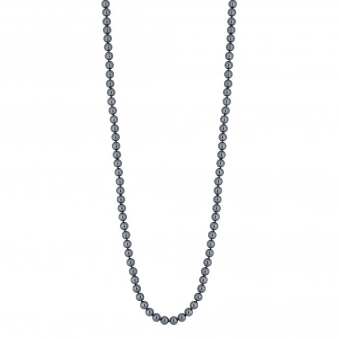 Grey Charcoal Pearl Long Necklace