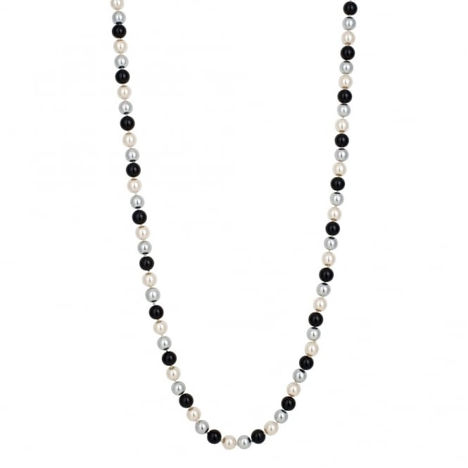 Black / White/ Grey Graduated Pearl Necklace