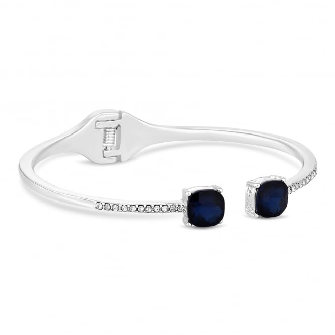 Blue crystal delicate bangle