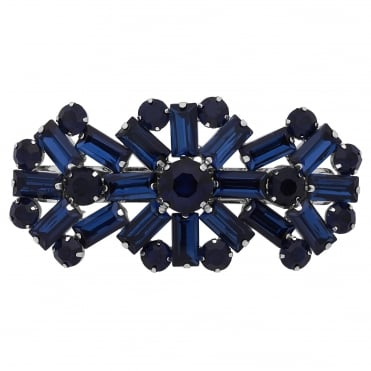 Blue crystal statement hair clip