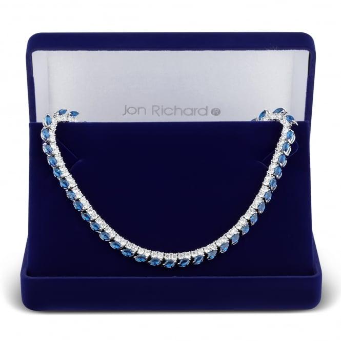 Blue cubic zirconia allway necklace