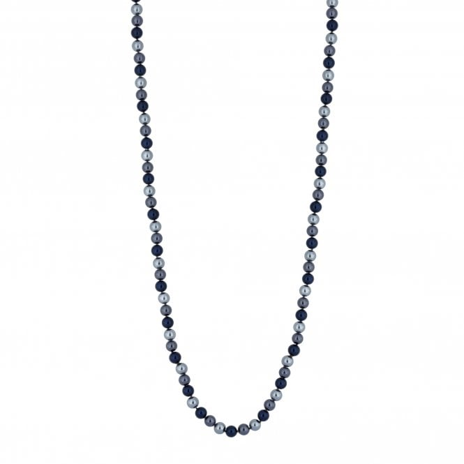 Blue Multi Tone Pearl Long Necklace
