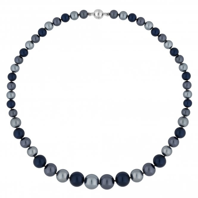 Blue Multi Tone Pearl Magnetic Necklace