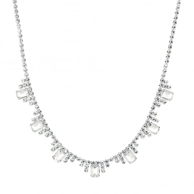 Catherine diamante baguette necklace
