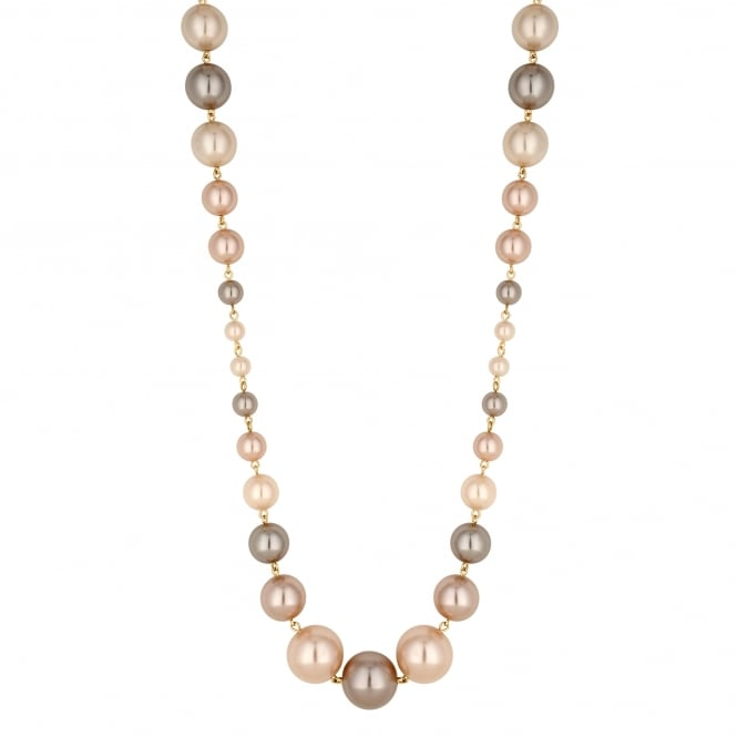 Champagne Pink Pearl Statement Necklace