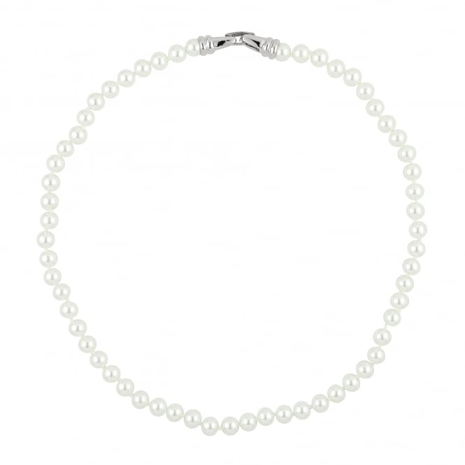 Classic White Pearl Chain Necklace