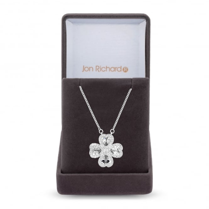 Clover leaf necklace in a gift box