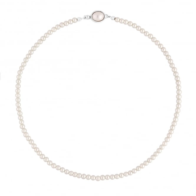 Cream Pearl Clasp Necklace