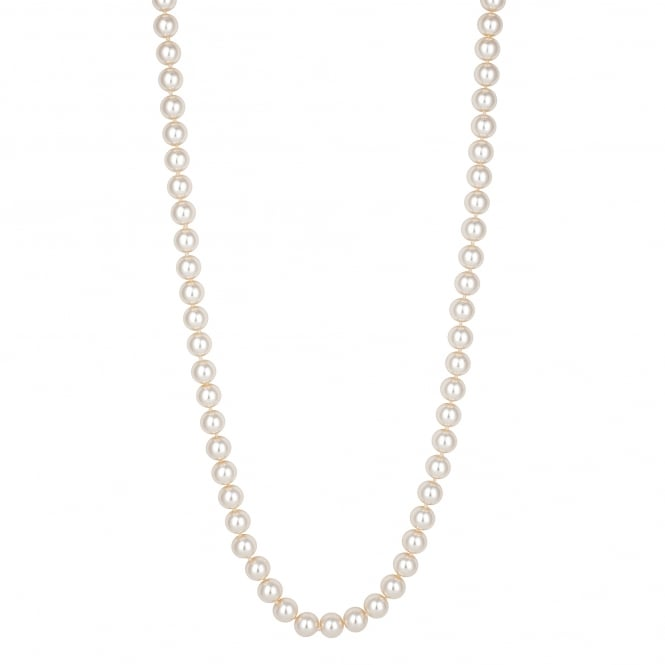 Cream Pearl Gold Clasped Necklace