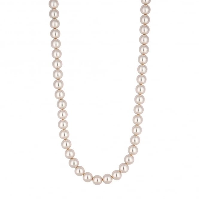 Cream Pearl Long Necklace