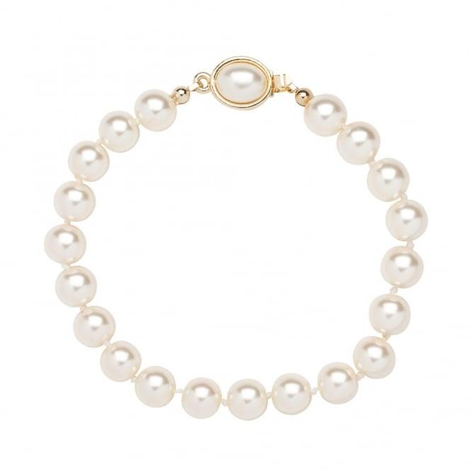 Cream Pearl Oval Clasp Bracelet