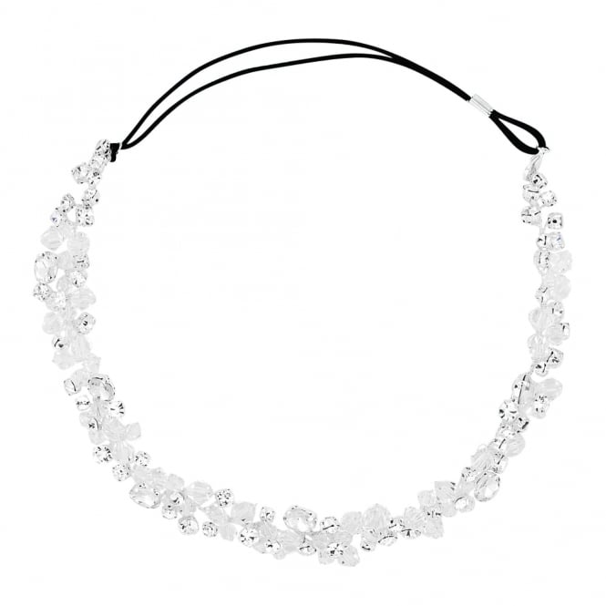 Crystal and facet bead halo style headband