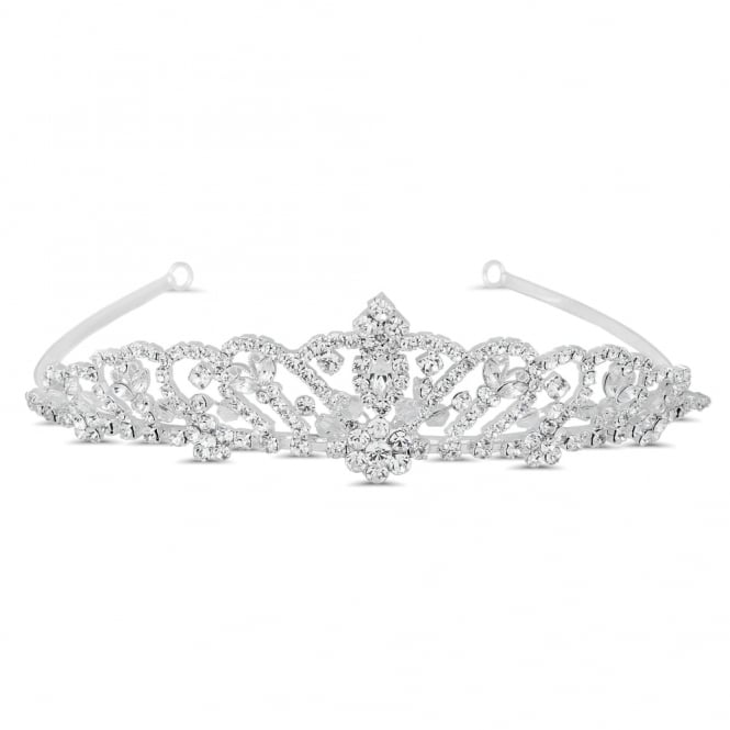 Jon Richard Crystal butterfly and floral embellished tiara