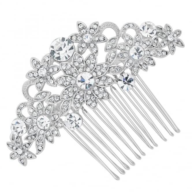 Jon Richard Crystal embellished sunflower hair comb