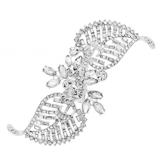 Jon Richard Crystal leaf twist hair clip