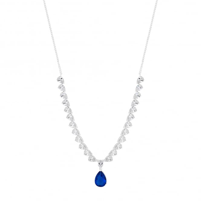 Crystal peardrop necklace