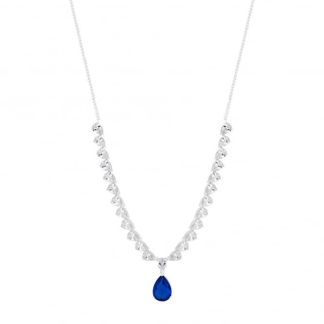 Crystal peardrop necklace