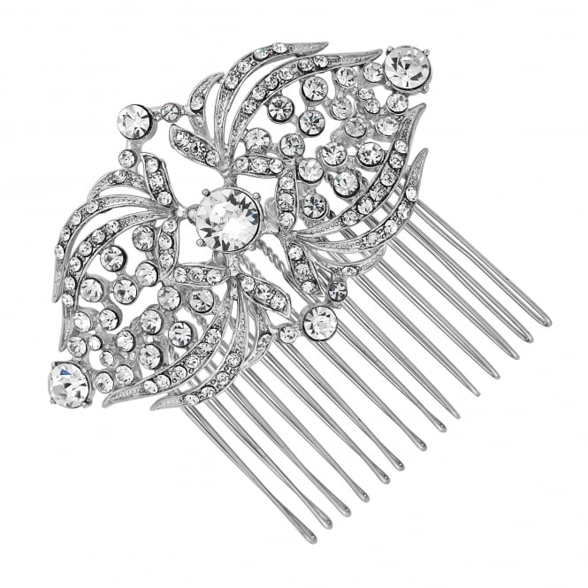 Crystal statement hair comb