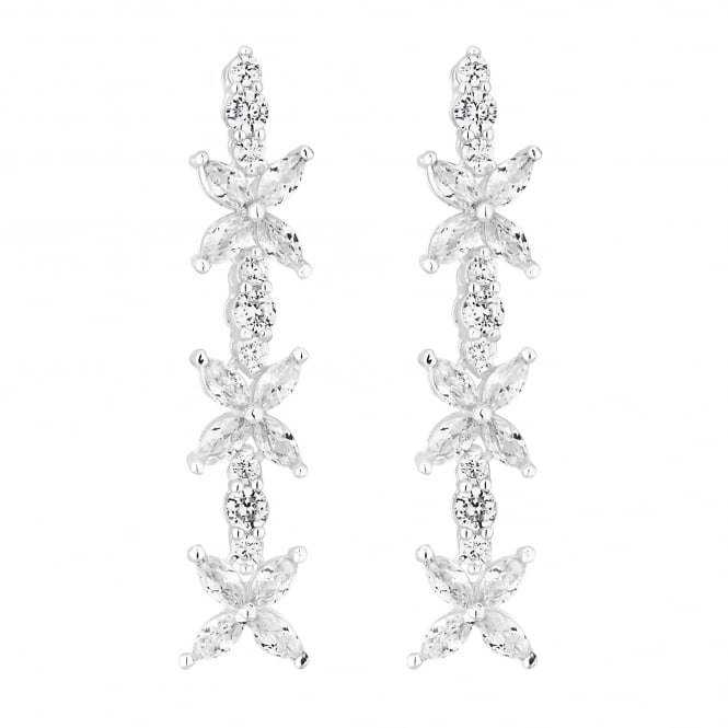 Jon Richard Cubic zirconia floral drop earring